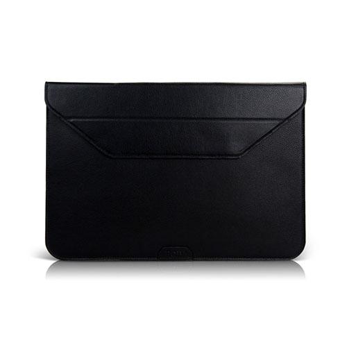 BGR Slim Läderväska med Stativ för Tablets – Svart