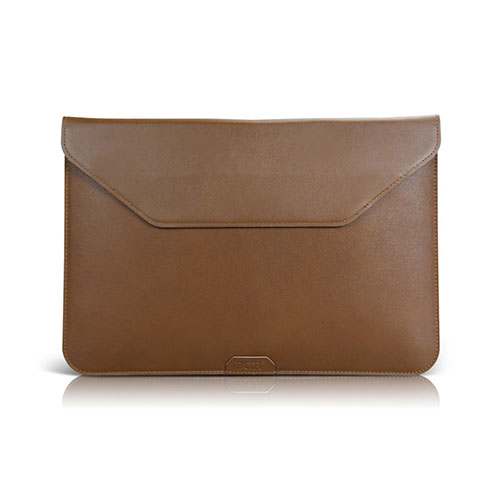 BGR Slim Läderväska med Stativ för Tablets – Kaffe