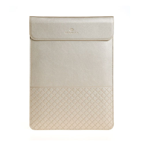 GEARMAX Envelope Laptop Leather Sleeve for 15.4-inch Apple MacBook – Champagne