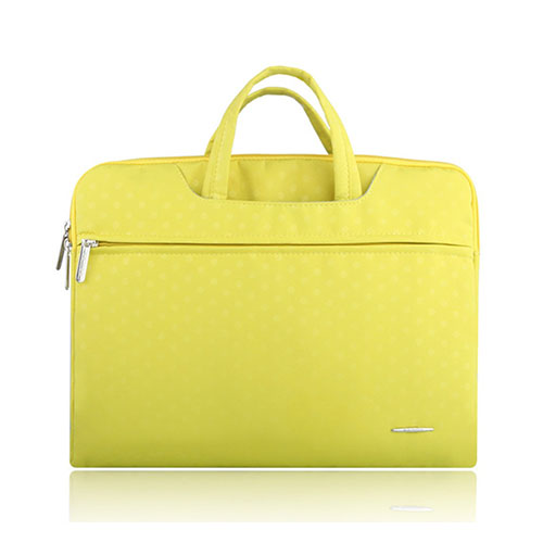 SSIMOO Canvas Handväska för 15.4″ Enheter – Gul