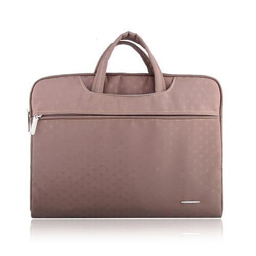 SSIMOO Canvas Handväska för 15.4″ Enheter – Champagne