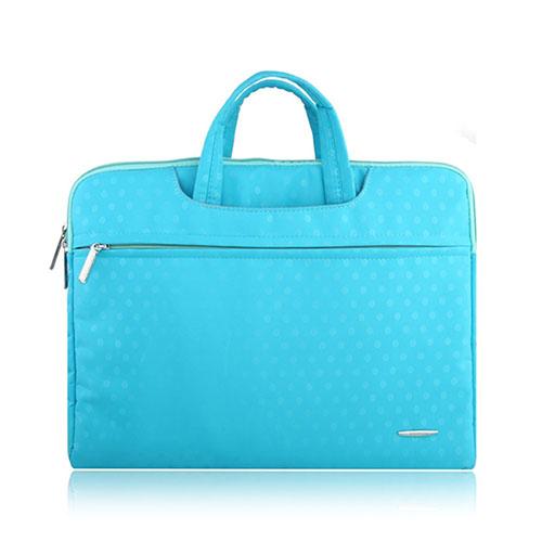 SSIMOO Canvas Handväska för 15.4″ Enheter – Ljusblå