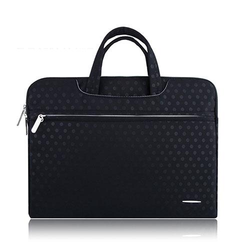 SSIMOO Polka Dot Canvas Handväska för 11″ Enheter – Svart