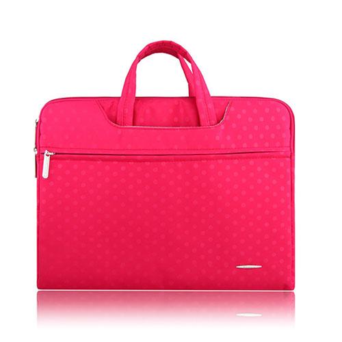 SSIMOO Polka Dot Canvas Handväska för 11″ Enheter – Rosa