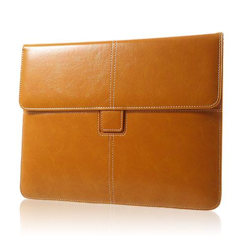 Business Stil Läderfodral Skydd för iPad Air 2 Storlek: 263 x 200mm – Orange