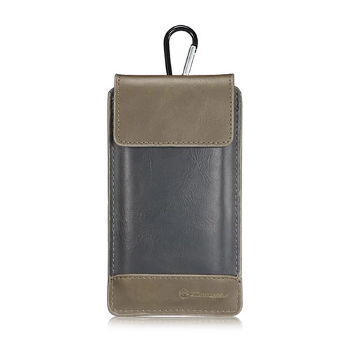 "CASEME Läderväska till 4,7-5,7"" Smartphones Storlek: 16 x 9cm – Brun / Svart"