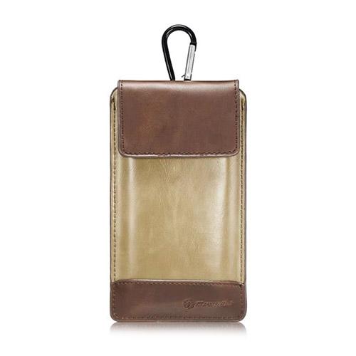 "CASEME Läderväska till 4,7-5,7"" Smartphones Storlek: 16 x 9cm – Kaffe / Beige"