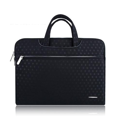 SSIMOO Canvas Handväska för 13″ Enheter – Svart