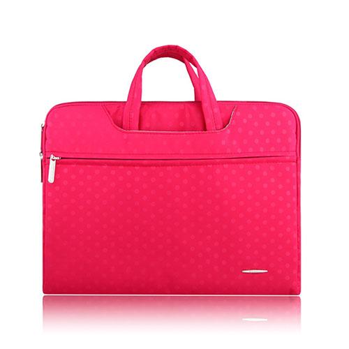 SSIMOO Canvas Handväska för 13″ Enheter – Rosa