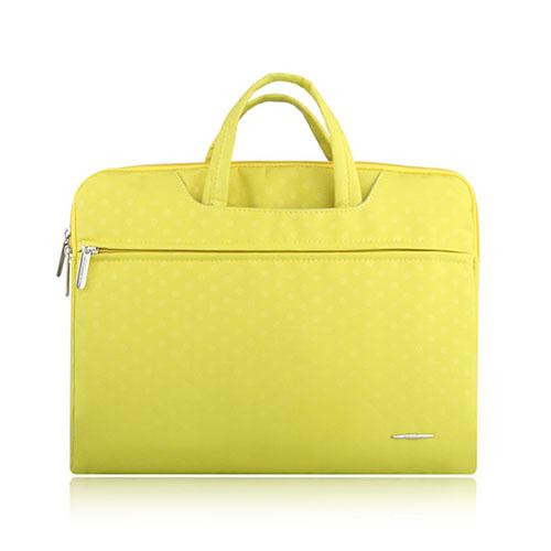 SSIMOO Canvas Handväska för 13″ Enheter – Gul