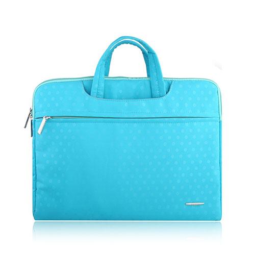 SSIMOO Canvas Handväska för 13″ Enheter – Ljusblå