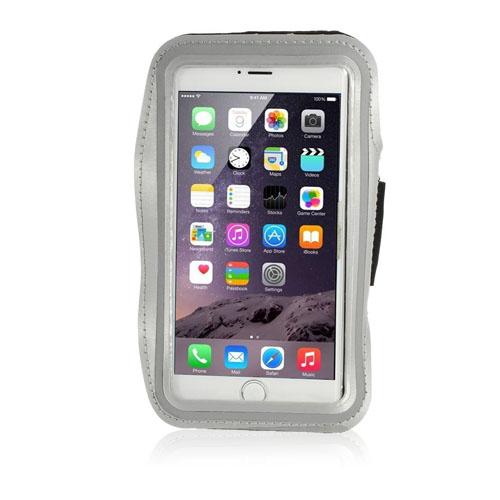 Fitness Sportarmband till Smartphones – Storlek 16 x 8.5 cm – Grå