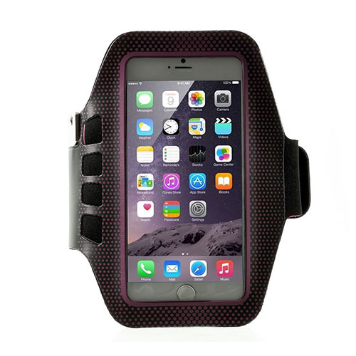 Running Löparmband med Nyckelhållare till Smartphones Size 16 x 8.5cm – Het Rosa