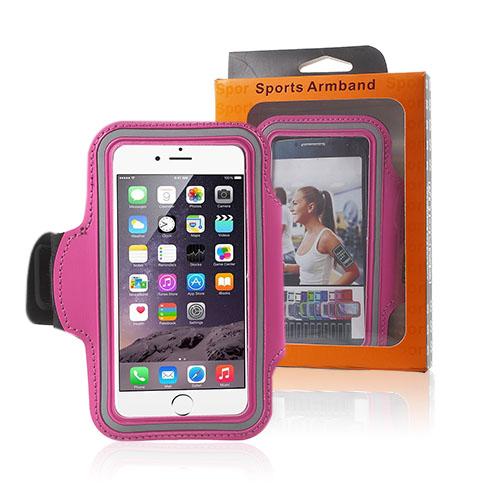 """Sportarmband till 4.7"""" Smartphones – Varm Rosa"""