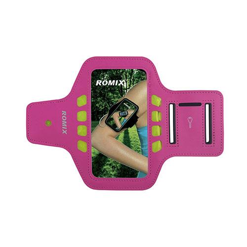 "ROMIX Sport Armband med LED Lys till 4,7"" Smartphones – Varm Rosa"