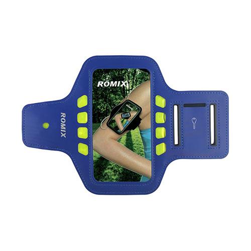 "ROMIX Sport Armband med LED Lys till 5,5"" Smartphones – Blå"