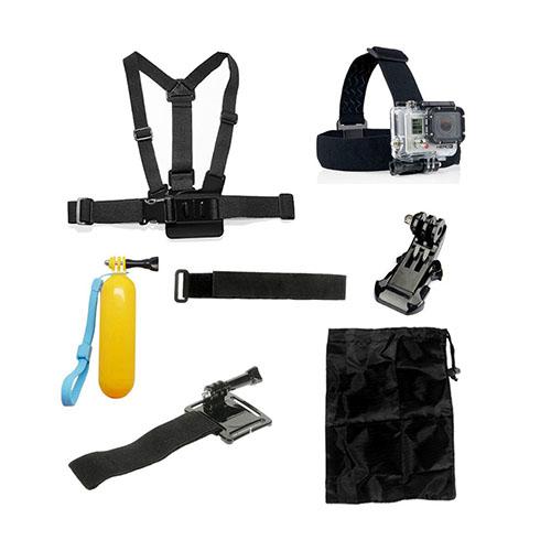 7 i 1 GoPro Accessoarer Kit med Bröstbälte Huvudband Flöte för GoPro Hero 4/3+/3/2/1 SJ4000/SJ5000/SJ6000/Xiaomi Yi/GoPro Hero 4 Session AT27+AT23+AT93+AT20/2+AT81+AT22+AT52