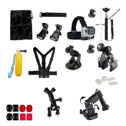 32 i 1 GoPro Utomhus Accessoarer Kit för GoPro Hero 4/3+/3/2/1 SJ4000/SJ5000/SJ6000 Xiaomi Yi