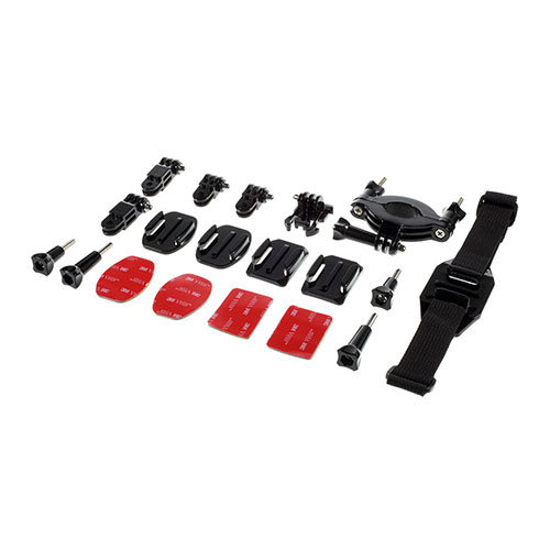 19 i 1 Utomhus GoPro Accessoarer Kit för GoPro Hero 4/3+/3/2/1 SJ4000/SJ5000/SJ6000 Xiaomi Yi