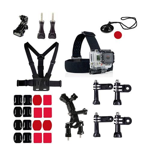 27 i 1 Utomhus GoPro Accessoarer Kit för GoPro Hero 4/3+/3/2/1 SJ4000/SJ5000/SJ6000 Xiaomi Yi