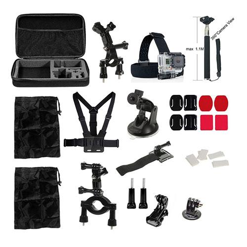 34 i 1 GoPro Accessoarer Kit med Bröstbälte Huvudrem Handledsrem för GoPro Hero 4/3+/3/2/1 SJ4000/SJ5000/SJ6000 Xiaomi Yi