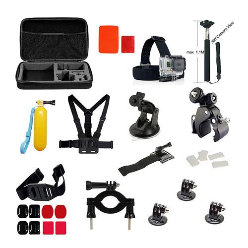 35 i 1 GoPro Accessoarer Kit med Bröstbälte Huvudrem för GoPro Hero 4/3+/3/2/1 SJ4000/SJ5000/SJ6000 Xiaomi Yi