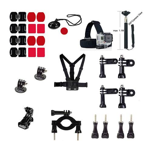 32 i 1 Utomhus GoPro Accessoarer Kit för GoPro Hero 4/3+/3/2/1 SJ4000/SJ5000/SJ6000 Xiaomi Yi