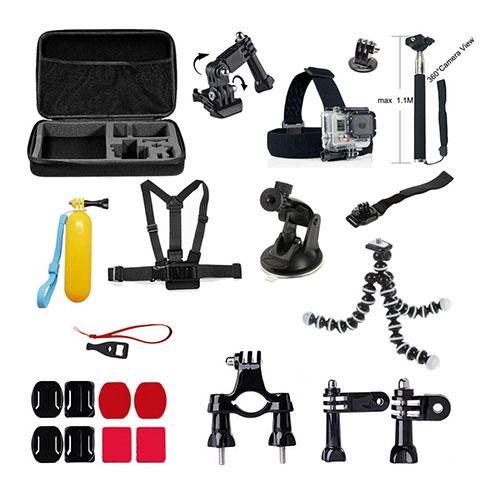 22 i 1 GoPro Accessoarer Kit med Bröstbälte Huvudrem för GoPro Hero 4/3+/3/2/1 SJ4000/SJ5000/SJ6000 Xiaomi Yi