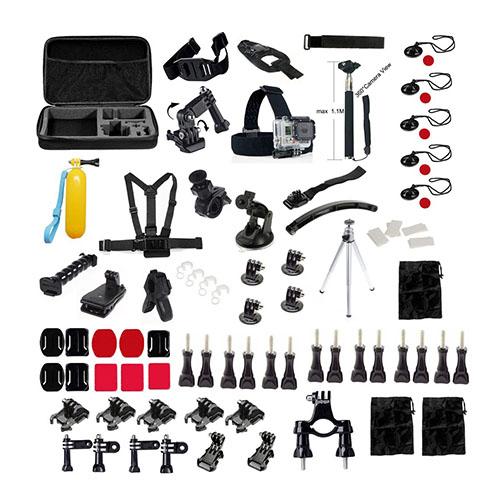 81 i 1 GoPro Accessoarer Kit med Bröstbälte Huvudrem och Fästen för GoPro Hero 4/3+/3/2/1 SJ4000/SJ5000/SJ6000 Xiaomi Yi