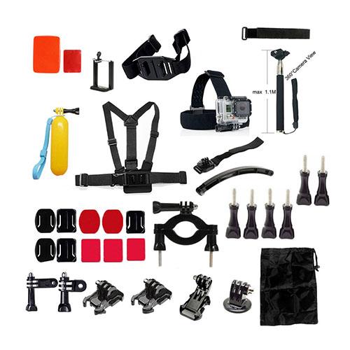 35 i 1 GoPro Accessoarer Kit with Bröstbälte Huvudrem och Fästen för GoPro Hero 4/3+/3/2/1 SJ4000/SJ5000/SJ6000 Xiaomi Yi