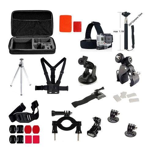 35 i 1 GoPro Accessoarer Kit med Bröstbälte Huvudrem and Monopod for GoPro Hero 4/3+/3/2/1 SJ4000/SJ5000/SJ6000 Xiaomi Yi