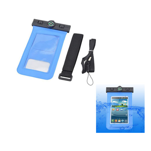 Vattentätt Smartphone-Armband med Kompass XL (Blå)