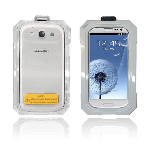 SPLASH Samsung Galaxy S3 Vattentätt Fodral (Vit)