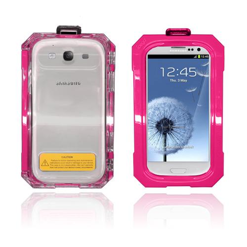 SPLASH Samsung Galaxy S3 Vattentätt Fodral (Het Rosa)