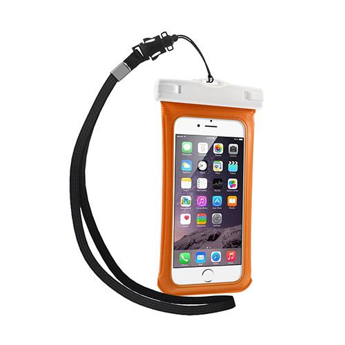 """V1 Vattentät Väska till 4,7"""" Smartphones Storlek: 15 x 7,5cm – Orange"""