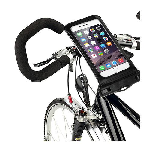 """IPX8 Vattentät Väska med Cykelhållare till 4,7"""" Smartphones Storlek: 14,5 x 7cm – Svart"""