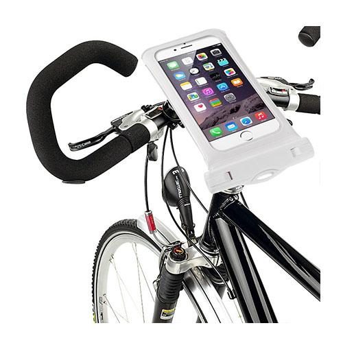 """IPX8 Vattentät Väska med Cykelhållare till 4,7"""" Smartphones Storlek: 14,5 x 7cm – Vit"""