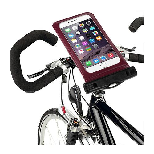 """IPX8 Vattentät Väska med Cykelhållare till 4,7"""" Smartphones Storlek: 14,5 x 7cm – Röd"""