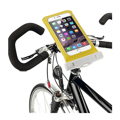 """IPX8 Vattentät Väska med Cykelhållare till 4,7"""" Smartphones Storlek: 14,5 x 7cm – Gul"""