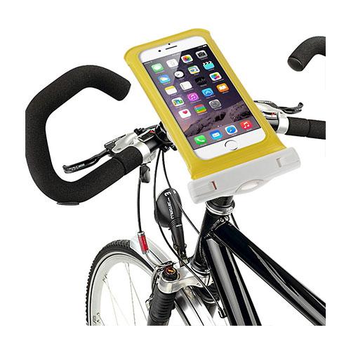 """IPX8 Vattentät Väska med Cykelhållare till 5,5"""" Smartphones Storlek: 16 x 8,2cm – Gul"""