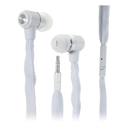 Shoelace Style (Vit) In-Ear Hörlurar med Mikrofon
