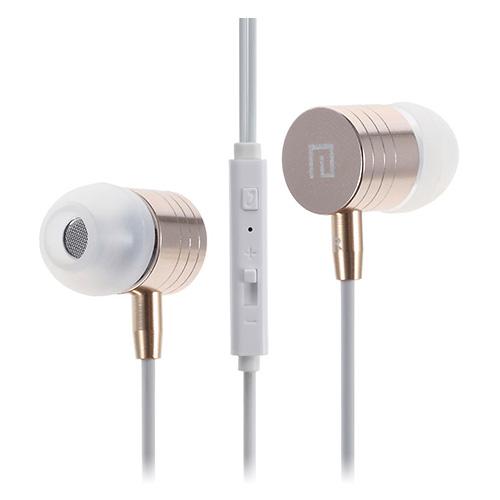 Langston i-7 (Guld) Hörlurar med Metallhölje & Mikrofon