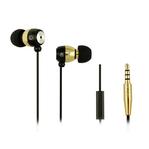 Awei-Q38i Metal In-ear Hörlurar med Mikrofon – Guld