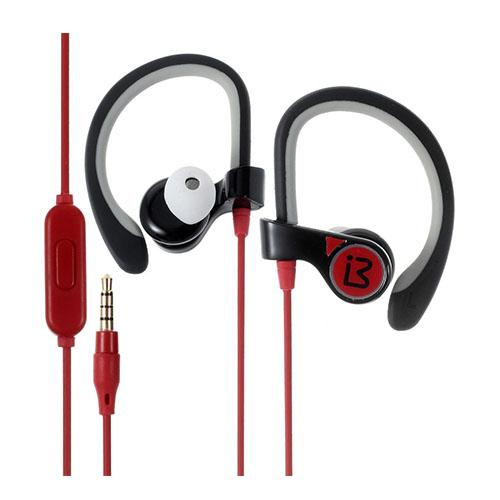 BENWIS E300 In-ear Sport Öronkrok Hörlurar Headset med Mikrofon – Röd