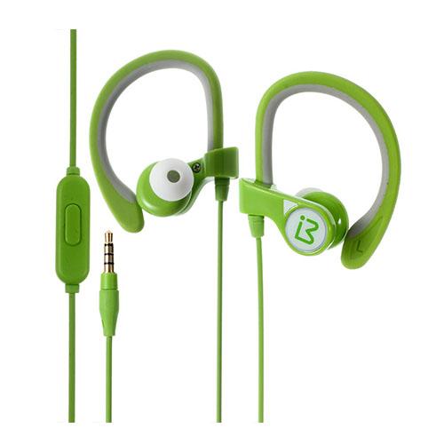 BENWIS E300 In-ear Sport Öronkrok Hörlurar Headset med Mikrofon – Grön