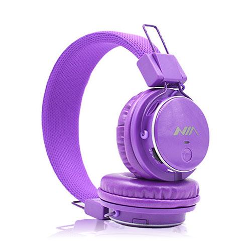 NIA Q8 Bluetooth Hörlurar – Lila