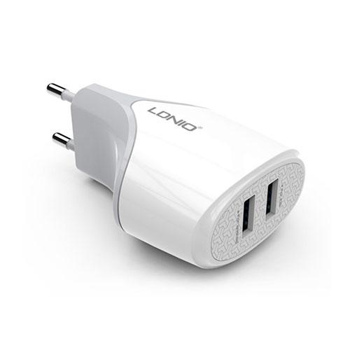 LDNIO 5V 2.1A Universell Dubbla USB Ports Reseladdare Adapter + Micro USB Cable – EU Kontakt