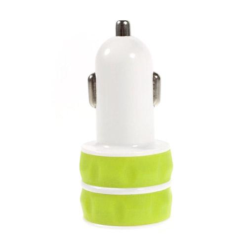 ES-03 3.1A Dubbel USB Billaddare – Gulgrön