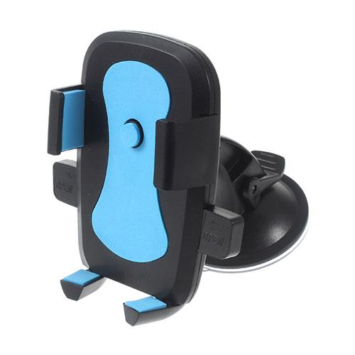 360-graders Roterbar Sugpropp Bilhållare för Samsung Note5 Bredd: 58-81mm – Blå