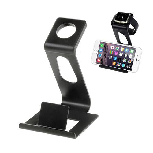 Aluminium Bilhållare till Apple Watch & Smartphones – Svart